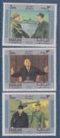 = Hommage Au Général De Gaulle 3 Timbres Sharjah Et Dépendances Neufs Sans Gomme - De Gaulle (General)