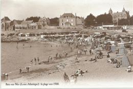 V 1097 BATZ SUR MER   LA PLAGE VERS 1900   REPRODUCTION - Batz-sur-Mer (Bourg De B.)