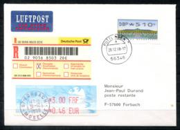 5235 - BUND - ATM 5,10 DM Auf Übergabe-Einschreiben Nach Forbach (F), Poste Restante + Gebühr ATM - [7] Repubblica Federale