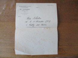 VAILLY (AISNE) M. CHABRE MENUISERIE D'ART & DE BATIMENT - 1900 – 1949