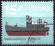 """Poland 1988 - Mi 3186 - YT 2992 ( Fire Boat """" Plomien """" ) - 1944-.... République"""