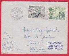 Republique Malgache Cachet ; Obitération 1959 Diégo Suarez.Sur Lettre N° 329 ; 330  Pour Nice - Madagascar (1889-1960)