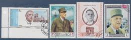 = Hommage Au Général De Gaulle 4 Timbres Oblitérés 1 The Mutawakelite Kingdom Of Yémen 1 Oman 1 Ajman 1 Sharjah - De Gaulle (General)