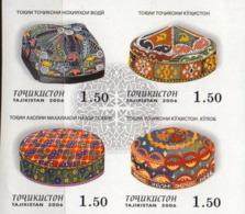 Tajikistan 2006 Set 4 V IMPERFORATED MNH Headdresses Skullcap - Costumes