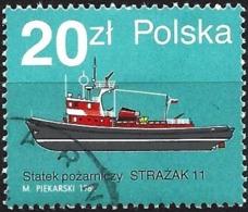 """Poland 1988 - Mi 3188 - YT 2995 ( Fire Boat """" Strazak 11 """" ) - 1944-.... République"""