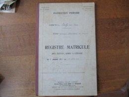 VAILLY SUR AISNE REGISTRE MATRICULE DES ELEVES ADMIS A L'ECOLE PRIMAIRE ELEMENTAIRE 1er OCTOBRE 1933- 1er OCTOBRE 1936 - Historische Dokumente
