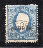 Y2062 -  MADEIRA 1876 , Il N. 27 Usato Dent 12 1/2 (2380A) .  RIPARATO - Madeira