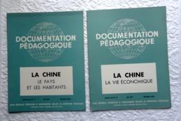2 Revues Documentation Pédagogique  1957 - 27 X 21 Cm - LA CHINE - Andere