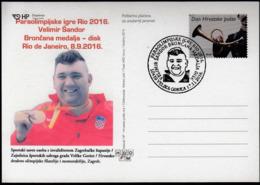 Croatia Velika Gorica 2016 / Para Olympic Games Rio De Janeiro / Athletics Discus / Bronze Medal Winner / Velimir Sandor - Sommer 2016: Rio De Janeiro