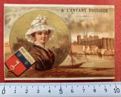 CHROMO 1880's ANGERS MAGASIN ENFANT PRODIGUE 62 RUE DU MAIL IMAGE PUBLICITÉ MAINE-ET-LOIRE - Autres