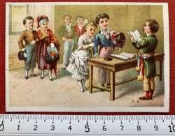CHOCOLAT CRABOT LYON CACAO CHROMO CHOCOLATIER CAFÉ MARIAGE MAIRIE 1880 IMAGE PUBLICITÉ - Altri