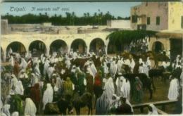 AFRICA - LIBIA / LIBYA - IL MERCATO NELL'OASI - EDIZ. COMETTO - FOTO LEHNERT & LANDROCK - 1910s  (5608) - Libia