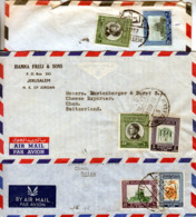 JORDAN 1960 's   3 X COMMERCIAL COVERS PMK.JERUZALEM - Giordania