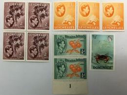 LOT DE 10 TIMBRES NEUFS SEYCHELLES-DOMINICA-PITCAIRN ISLANDS - Seychelles (...-1976)