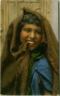 AFRICA - LIBIA / LIBYA - PICCOLA MENDICANTE / YOUNG BEGGAR GIRL - EDIZ. COMETTO - FOTO LEHNERT & LANDROCK 1910s (5612) - Libia