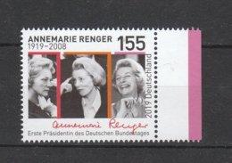 Deutschland BRD **  3499 Geburtstag Annemarie Renger  Neuausgabe 10.10.2019 - [7] República Federal