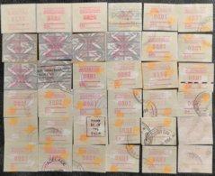 AUSTRALIA  - ATM FRAMA  -  100 Used Stamps On  Fragment - Vignette Di Affrancatura (ATM/Frama)