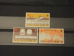 HONG KONG - 1979 FERROVIA 3 VALORI - NUOVI(++) - Malesia (1964-...)
