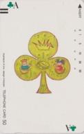 Télécarte Ancienne Japon / 110-11753 - Jeu De Cartes CARTE A JOUER - PLAYING CARD - Japan Front Bar Phonecard / A - Giochi