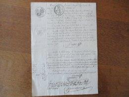 26 MAI 1827 EMMANUEL BAYARD JUGE DE PAIX DU CANTON DE BRETEUIL OISE CITATION A JEAN FRANCOIS SENECHAL BERGER HUISSIER CO - Manuskripte