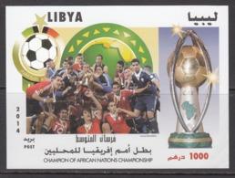 2014 Libya African Nations Cup Football Souvenir Sheet  MNH - Libye