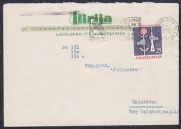 Yugoslavia 1962 Letter Sent From Ljubljana To Knjazevac - 1945-1992 Socialist Federal Republic Of Yugoslavia