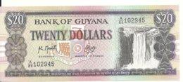 GUYANE 20 DOLLARS ND1989 UNC P 27 - Guyana