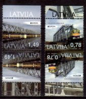 2018 Latvia - Europa CEPT - Bridges - Railway - Trains - Tet-beche - MNH** MiNr 1043-1044 - Lettland