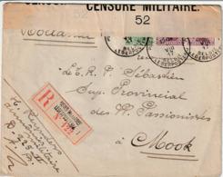 Gecencureerde Brief Van Belgisch Leger Te Velde Naar Mook (Nederland) , 1917. - 1915-1920 Albert I