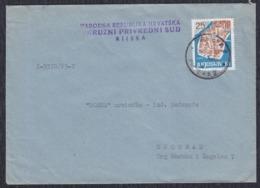 Yugoslavia 1963 Letter Sent From Rijeka To Beograd - 1945-1992 Sozialistische Föderative Republik Jugoslawien