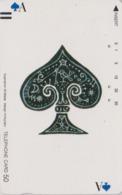 Télécarte Ancienne Japon / 110-11792 - Jeu De Cartes CARTE A JOUER - PLAYING CARD - Japan Front Bar Phonecard / A - Jeux