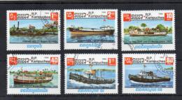 KHAMPUCHEA - 1985 - Navi E Barche - 6 Valori - Usati - (FDC18238) - Kampuchea