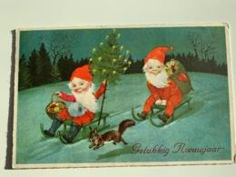 Nain, Lutin , Gnomes Gelukkig Nieuwjaar L&P 1378/II - Anno Nuovo