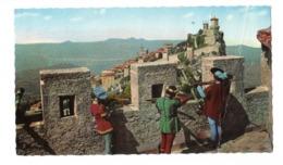 Cartolina Postale San Marino - La Città - Non Viaggiata Ma Affrancata Con Piega A Dx - San Marino