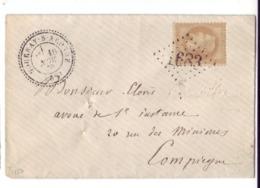 France Département 58 Oise *GOURNAY-S-ARONDE* - GC 1683 Sur 10C - Pli Du 16/NOV/70 Vers COMPIEGNE TB/VF - Poststempel (Briefe)