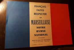 Rare Tract 15×21 Cm Français Faites Respecter La Marseillaise Union Nationale Des Para - 1939-45