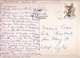Germany & Marcofilia, Greetings From Ettlingen Baden, Karlsruhe To Syke 1991 (7505) - Storia Postale