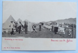 C. P. A. : Sainte-Hélène: Souvenir Van St-Helena: Waschdag In Het Kamp - Sainte-Hélène