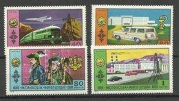 MONGOLIA 1972 Michel 696 & 698-700 MNH NB! Eine Marke Hat Haftspuren! - Mongolei