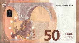 ! 50 Euro, R031C5, RD1017034959, Currency, Banknote, Billet Mario Draghi, EZB, Europäische Zentralbank - EURO