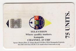 OUGANDA STARCOM Ref MV Cards : UGA-S-20 WBS Television 75U - Uganda