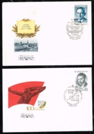 Russia USSR 1986 Olof Palme Béla Kun Hungarian Communist 2 FDC First Day Cover - Covers & Documents