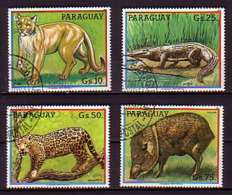 PARAGUAY  - 1984 - Fauna - 4v Obl. - Stamps