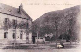 CPA / Saint Benoit (01) Un Coin De La Place Et La Montagne   Ed Perrin Les Avenieres - Autres Communes