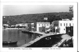CPA MYCONOS -une Rue Littorale - Grecia