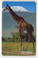 TANZANIE Ref MV Cards : TAN-TT-01a GIRAFLE 150 UNITS - Tansania
