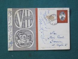 Poland 1970 Stationery Postcard Warszawa To Local - Mermaid - 1944-.... Republic