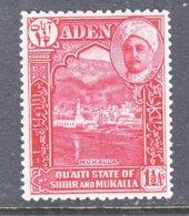 ADEN  QU'AITI  STATE OF SHIHR And  MUKALLA  4  ** - Aden (1854-1963)
