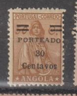 """ANGOLA CE AFINSA PORTEADO 33a - NOVO COM CHARNEIRA """"S"""" INVERTIDO - Angola"""