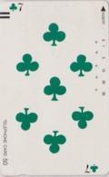 Télécarte Ancienne Japon / 110-11759 - Jeu De Cartes CARTE A JOUER - PLAYING CARD - Japan Front Bar Phonecard / A - Giochi
